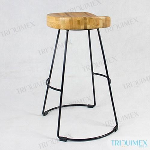 GH-163   Ghế Coffee khung sắc đặc mặt gỗ thiết kế thanh nhã