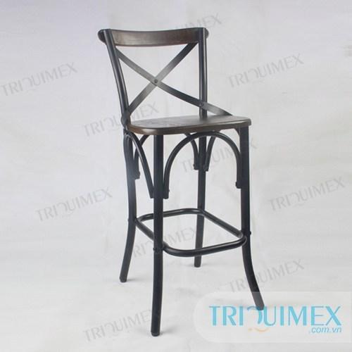 GH-182 | Ghế bar gỗ nhà hàng phong cách industry