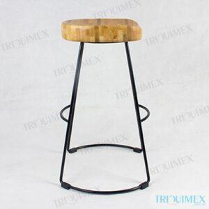GH-163 | Ghế Coffee khung sắc đặc mặt gỗ thiết kế thanh nhã