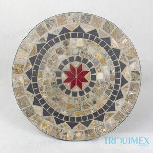 TR-049 | Bàn tròn ngoài trời mặt ốp Mosaic